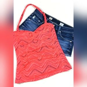 NWT Island Escape Twist Halter Bandini Tankini Top